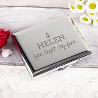 Engraved Cigarette Case - You Light My Fire - Cigarette Gifts