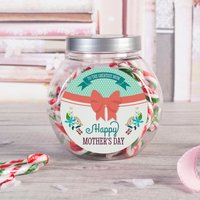 Personalised Candy Canes - Happy Mother's Day Bow - Candy Gifts