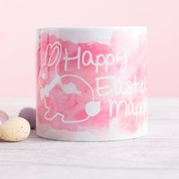 Personalised Baby Mug - Pink Easter Bunny