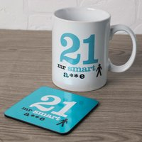21st Birthday Mug And Coaster Set - Smart - Smart Gifts