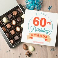 Personalised Belgian Chocolates - Happy 60th Birthday - 60th Birthday Gifts