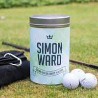 Golf Gift Set In Personalised Tin - Patch