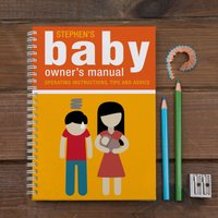 Personalised Notebook - Baby Owner's Manual - Baby Gifts