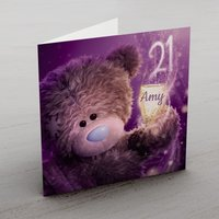 Personalised Me To You Card - 21 Champagne - Me To You Gifts