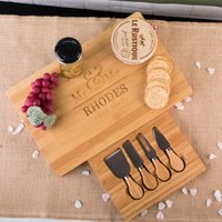 Personalised Large Rectangular Wooden Cheeseboard - Mr and Mr