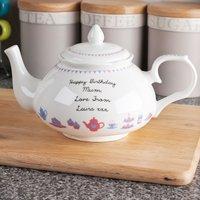 Personalised Bone China Teapot - Tea & Cake Design - Design Gifts