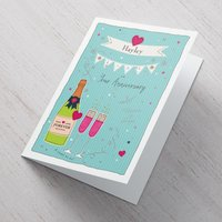 Personalised Card - Your Anniversary Champagne