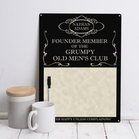 Personalised 'Grumpy Old Mens Club' Memo - Grumpy Gifts
