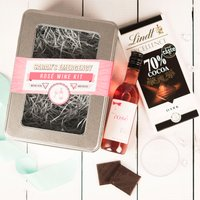 Personalised Emergency Rose Wine Kit