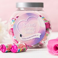 Personalised Love Hearts Jar - Sweets For My Sweet - Sweets Gifts