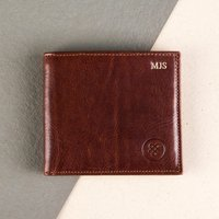 Embossed Vittore Italian Leather Billfold Wallet - Italian Gifts