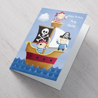 Personalised Card - Pirate Ship - Pirate Gifts