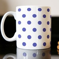 Personalised Mug - Polka Dot Navy - Polka Dot Gifts