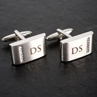 Personalised Cufflinks with Crystal Detail - Cufflinks Gifts