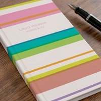 Personalised Address Book - Colour Stripe - Colour Gifts
