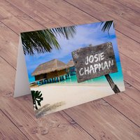 Personalised Card - Beach Sign - Beach Gifts