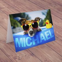 Personalised Card - Summer Dog - Summer Gifts