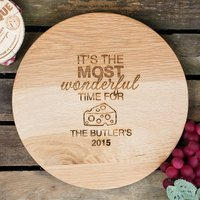 Personalised Barrel Top Chopping Board - Time For Cheese - Chopping Board Gifts