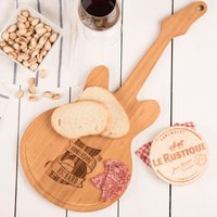 Personalised Guitar Chopping Board - 5th Anniversary - Guitar Gifts