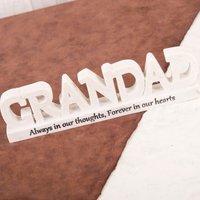 Thoughts Of You 3D Memorial - Grandad - Grandad Gifts