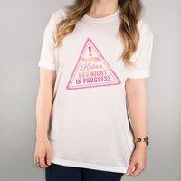 Personalised White T-Shirt - Hen Night In Progress - Hen Night Gifts