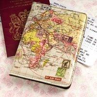 World Map Passport Cover - Passport Gifts
