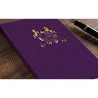 Personalised Address Book - Purple Crest - Book Gifts