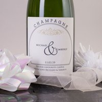 Luxury Personalised Champagne - Couples Names Cream
