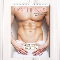 Personalised Hot Hunks Calendar - New Edition - Men Gifts
