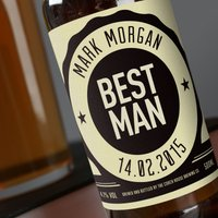Personalised Beer - Best Man