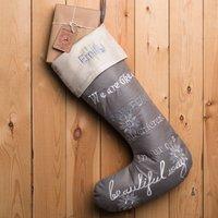 Personalised Luxury Christmas Stocking - Snowflake - Christmas Stocking Gifts