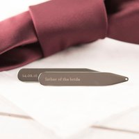 Personalised Collar Stiffeners - Father Of The Bride