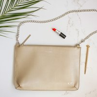 Personalised Style Queen Metallic Gold Clutch Bag - Style Gifts