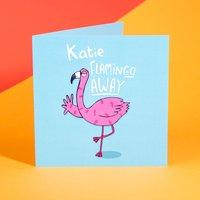 Personalised Katie Abey Card - FlaminGo Away - Flamingo Gifts