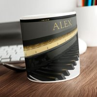 Personalised Mug - Piano - Music Gifts