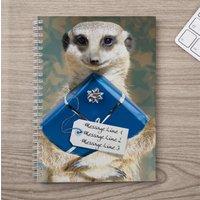 Personalised Notebook - Meerkat Present - Meerkat Gifts