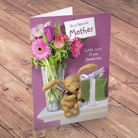 Personalised Card - To A Special Mother - Flowers Design - Design Gifts