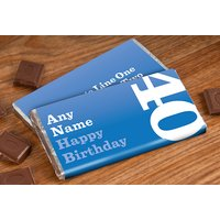 Personalised Chocolate Bar - 40th Birthday for Him - Getting Personal Gifts