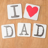 I Love Dad Coasters - Gadgets Gifts