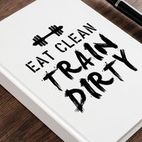Personalised Diary - Eat Clean - Diary Gifts