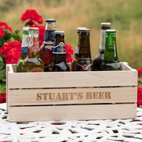 Personalised Beer Crate With 8 Bottles Of Ale - Ale Gifts