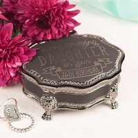 Personalised Black Vintage Jewellery Box - Amazing 16th Birthday, Any Recipient - 16th Birthday Gifts