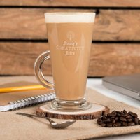 Engraved Glass Latte Mug - Creativity Juice - Creativity Gifts
