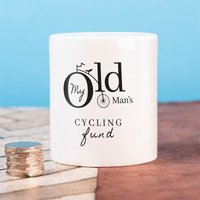 Personalised Ceramic Money Box - My Old Man - Money Box Gifts