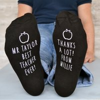 Personalised Socks - Best Teacher Ever - Teacher Gifts