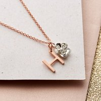 Personalised Posh Totty Designs Initial & Charm Necklace - Charm Gifts