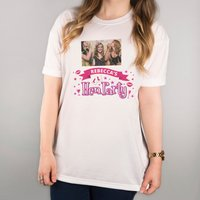 Photo Upload White T-Shirt - Hen Party - Hen Night Gifts