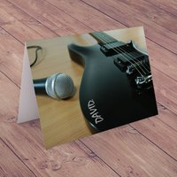 Personalised Card - Rockstar Guitar - Music Gifts