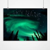 Personalised Northern Lights Print - Lights Gifts