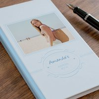 Photo Upload Address Book - Blue Frame - Book Gifts